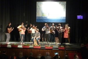 Muziek tijdens de openingsceremonie.