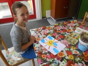 Een vrolijke zon voor de kinderen in Bosnië